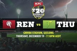 Renegades vs Thunder BBL betting tips