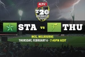 Stars vs Thunder BBL Finals betting