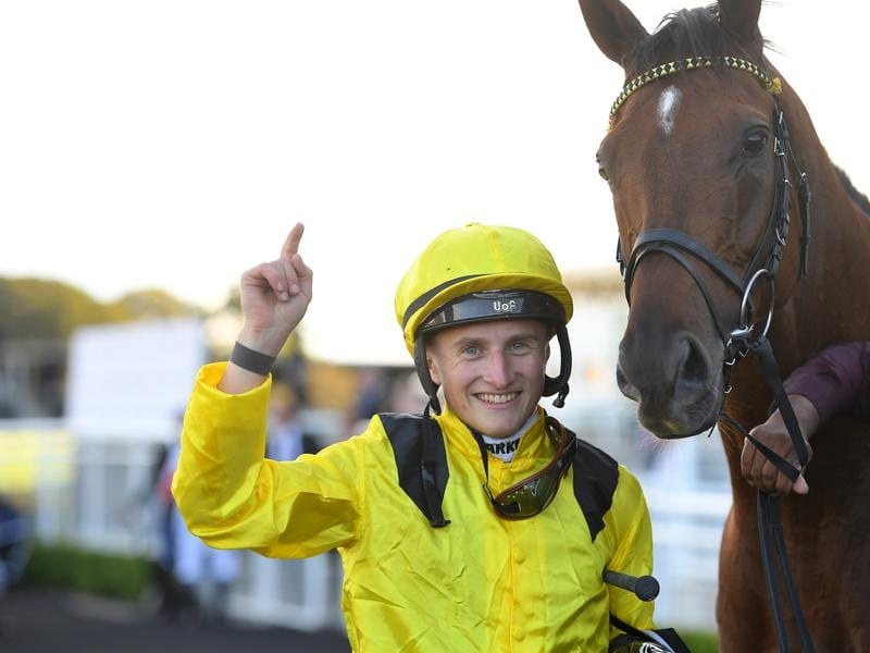 Tom Marquand with Queen Elizabeth Stakes winner Addeybb.