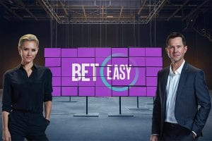 Nicky Whelan and Ricky Ponting in BetEasy ad