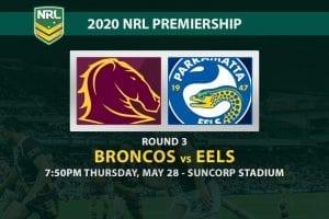 Broncos vs Eels NRL 2020