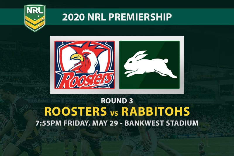 Roosters vs Rabbitohs NRL betting tips