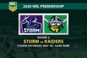 Storm vs Raiders NRL betting tips