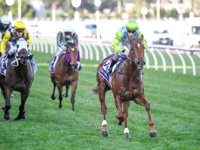 Front Page wins the Listed AR Creswick Stakes.