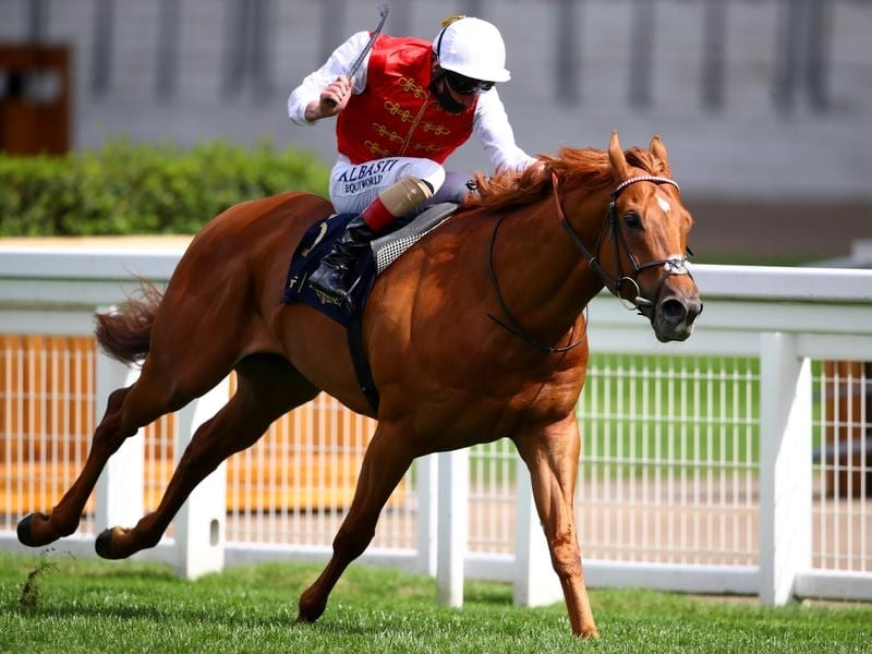 Adam Kirby riding Golden Horde