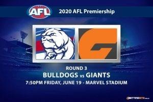 Bulldogs vs Giants AFL betting tips