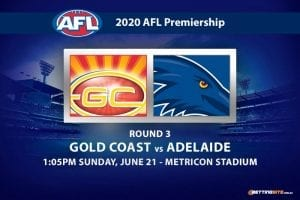 Suns vs Crows AFL betting tips
