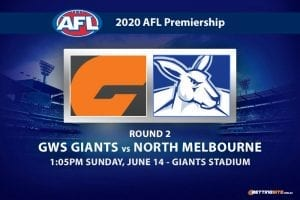 Giants vs Kangaroos AFL betting tips