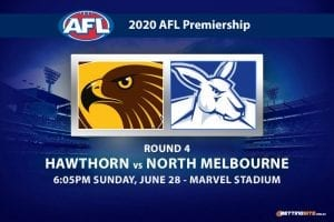Hawks vs Kangaroos AFL betting tips
