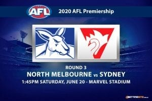 Kangaroos vs Swans AFL betting tips
