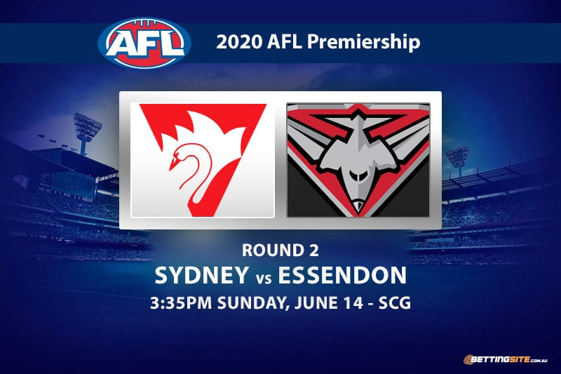 Swans vs Bombers AFL betting tips