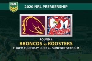 Broncos vs Roosters NRL betting tips