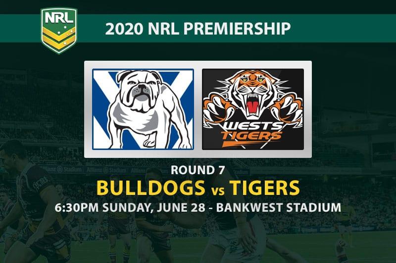 Bulldogs vs Tigers NRL betting