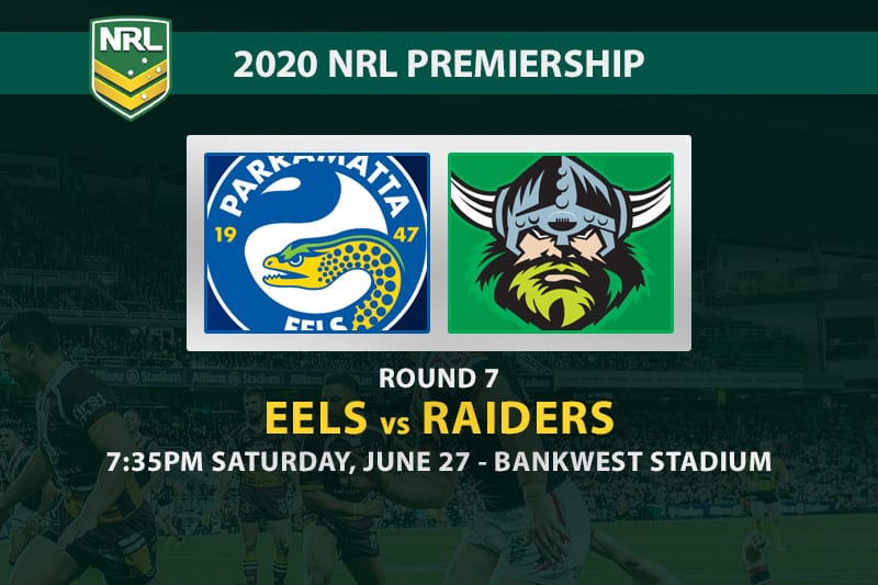 Eels vs Raiders NRL betting tips
