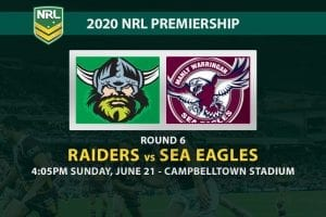Raiders vs Sea Eagles NRL betting tips