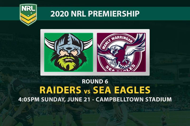 Raiders vs Sea Eagles NRL betting tips