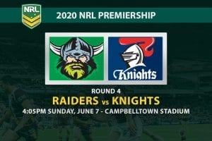 Raiders vs Knights NRL betting
