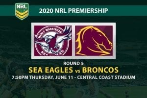 Sea Eagles vs Broncos NRL betting