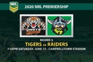 Tigers vs Raiders NRL betting tips