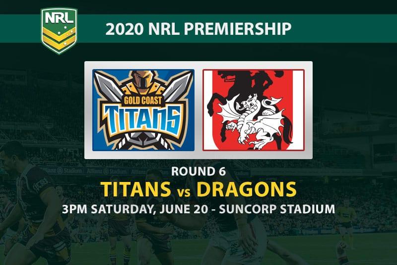 Gold Coast Titans vs St George Illawarra Dragons