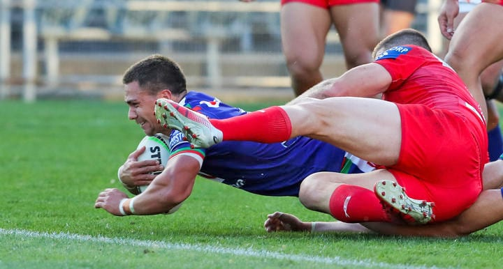 Warriors defeated the Dragons