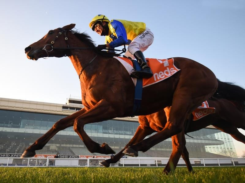 Mystery Shot hits the target at Caulfield