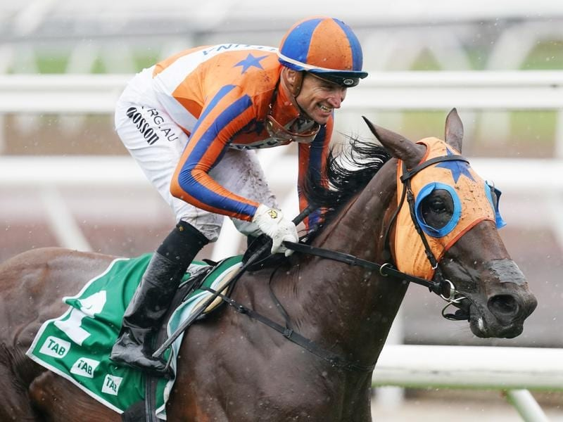 Jockey Opie Bosson rides Melody Belle to victory in the Empire Stakes