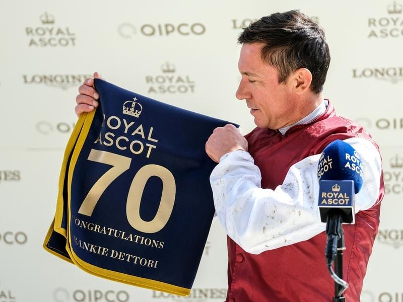 Frankie Dettori will be chasing his third Epsom Derby win.