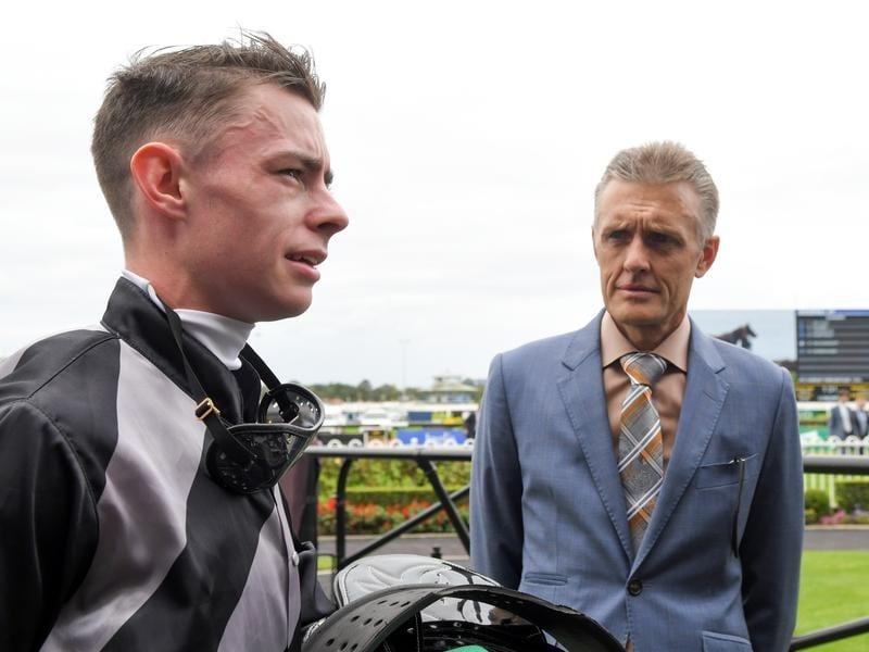 Trainer Mark Newnham and apprentice Robbie Dolan