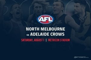 Kangaroos vs Crows AFL betting tips