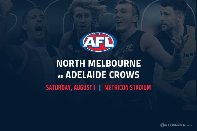 Kangaroos vs Crows AFL betting tips
