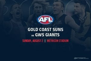 Suns vs Giants AFL betting tips