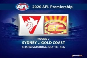 Sydney vs Gold Coast AFL betting tips