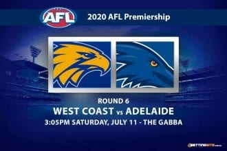 Eagles vs Crows AFL betting tips