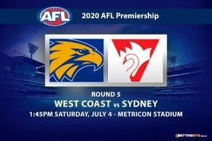 Eagles vs Swans AFL betting tips