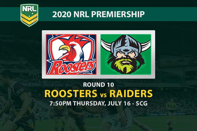 Roosters vs Raiders NRL betting tips
