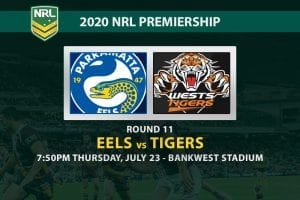 Eels vs Tigers NRL betting tips