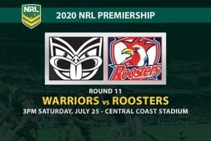 Warriors vs Roosters NRL betting tips