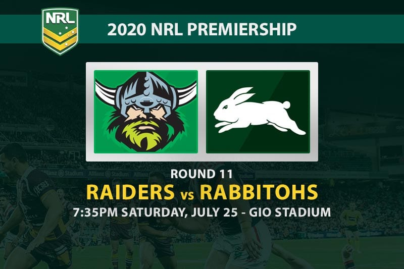Raiders vs Rabbitohs betting tips
