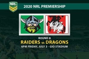 Canberra Raiders vs St George Illawarra Dragons