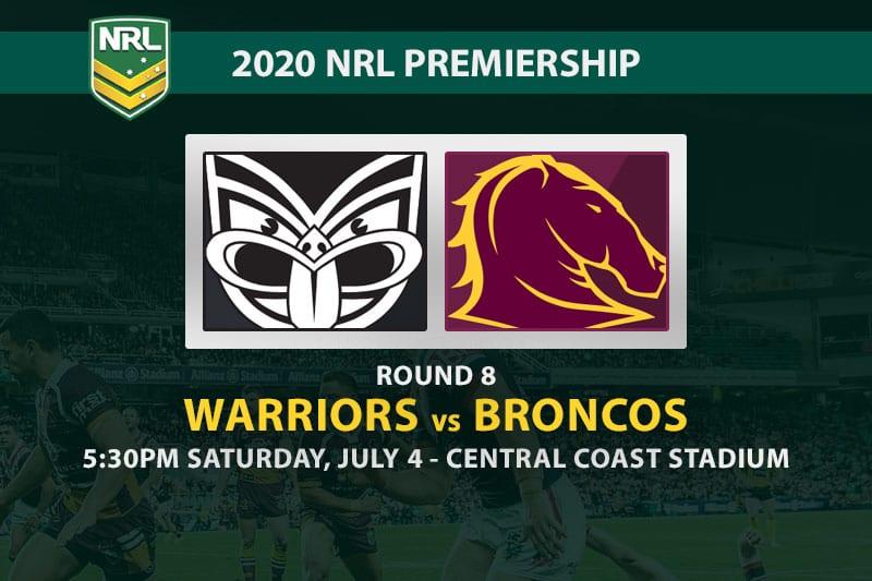 Warriors vs Broncos NRL betting tips