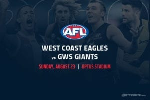 Eagles vs Giants AFL betting tips