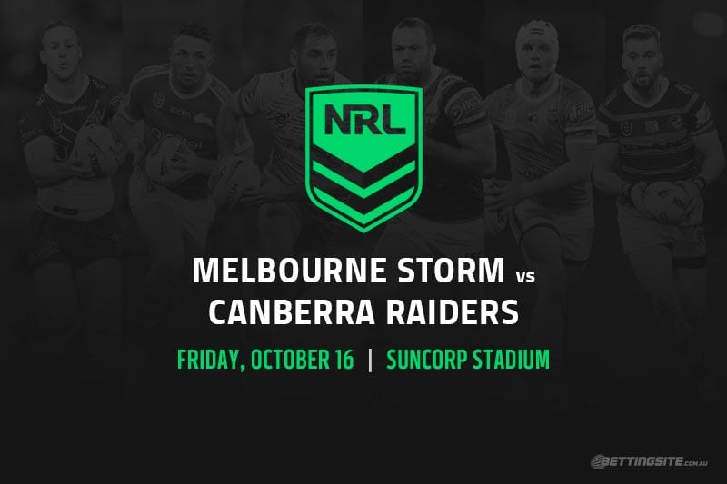 Storm vs Raiders NRL Finals 2020 betting tips