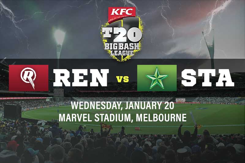 Melbourne Renegades v Melbourne Stars tips, best bets and odds for Jan 20