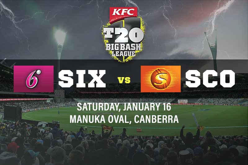 Sydney Sixers v Perth Scorchers for January 16/1