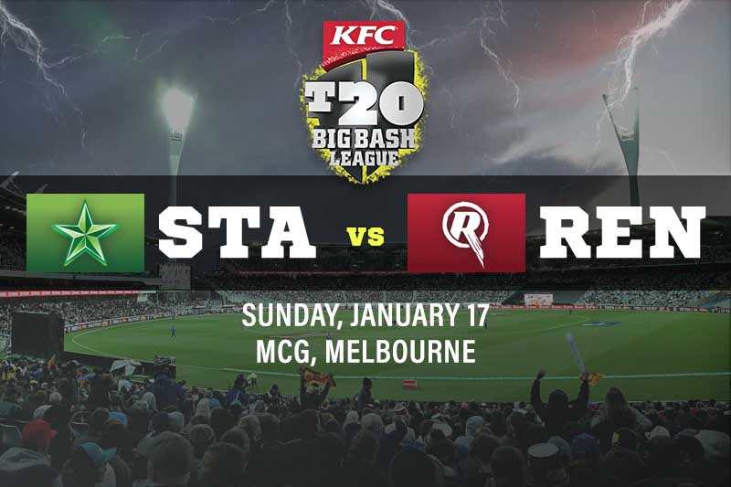 Melbourne Stars v Melbourne Renegades tips for January 17 2021