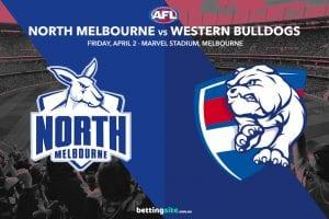Kangaroos Bulldogs AFL tips
