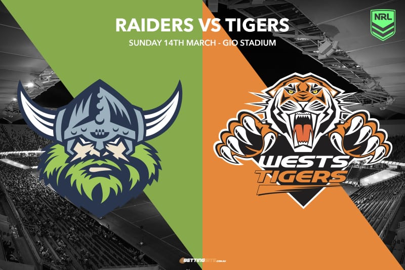 Canberra Raiders vs Wests Tigers