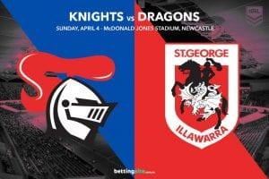Newcastle Knights vs St George Illawarra Dragons