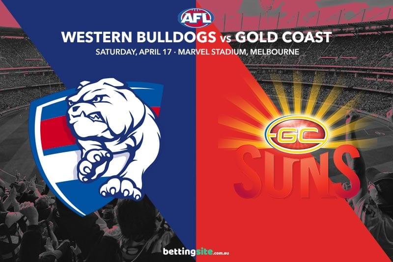 Bulldogs Suns AFL 2021 betting tips